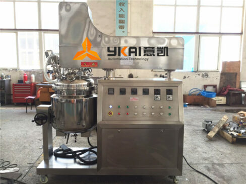 100L Vacuum Emulsifying Mixer Normally Delivered to Vietnam on Hot Day