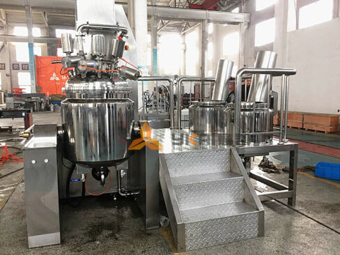 Features of vacuum emulsifying mixers