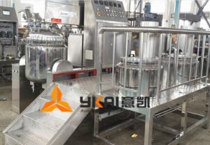 When does the vacuum homogenizer mixer need platform and stairs