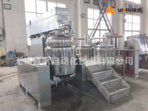 High-shear vacuum emulsifier