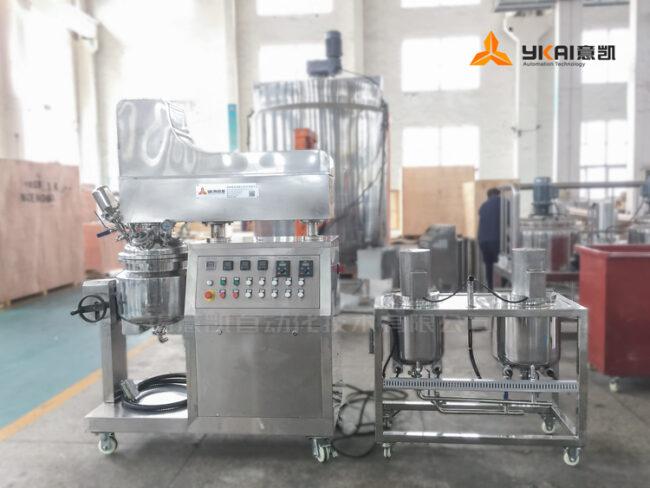 Vacuum homogenous emulsifying unit