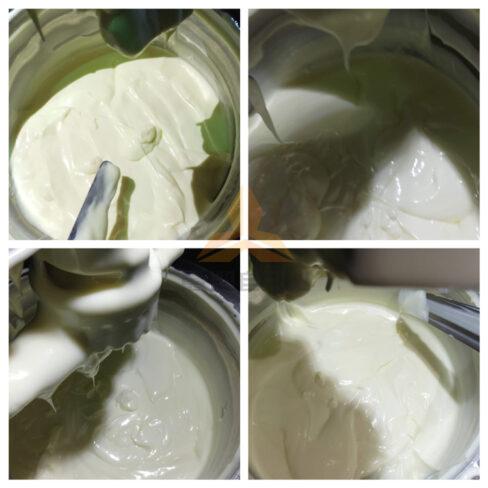 Mayonnaise emulsified