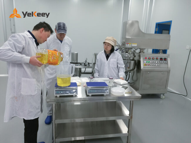 Mayonnaise vacuum emulsification test machine