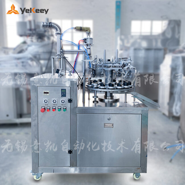 20190529-Semi-automatic silicone metal tube filling and sealing machine-2