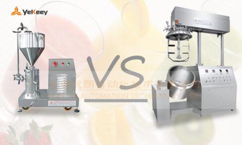 Comparison of homogenizer and colloid mill