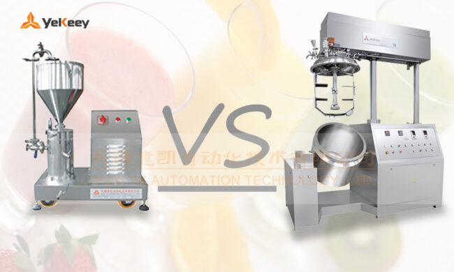 Comparison of homogenizer and colloid mill