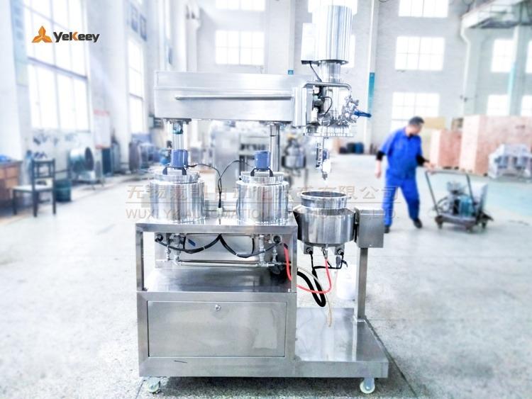 laboratory emulsifying mixer-rear view
