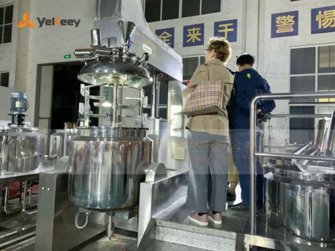 vacuum emulsifier-Client from Kazakhstan
