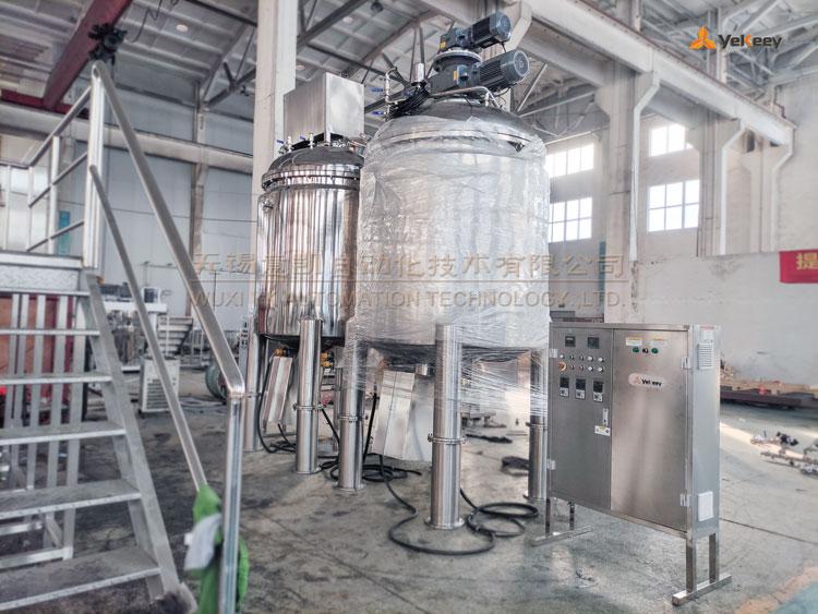 bottom homogeneous mixing tank