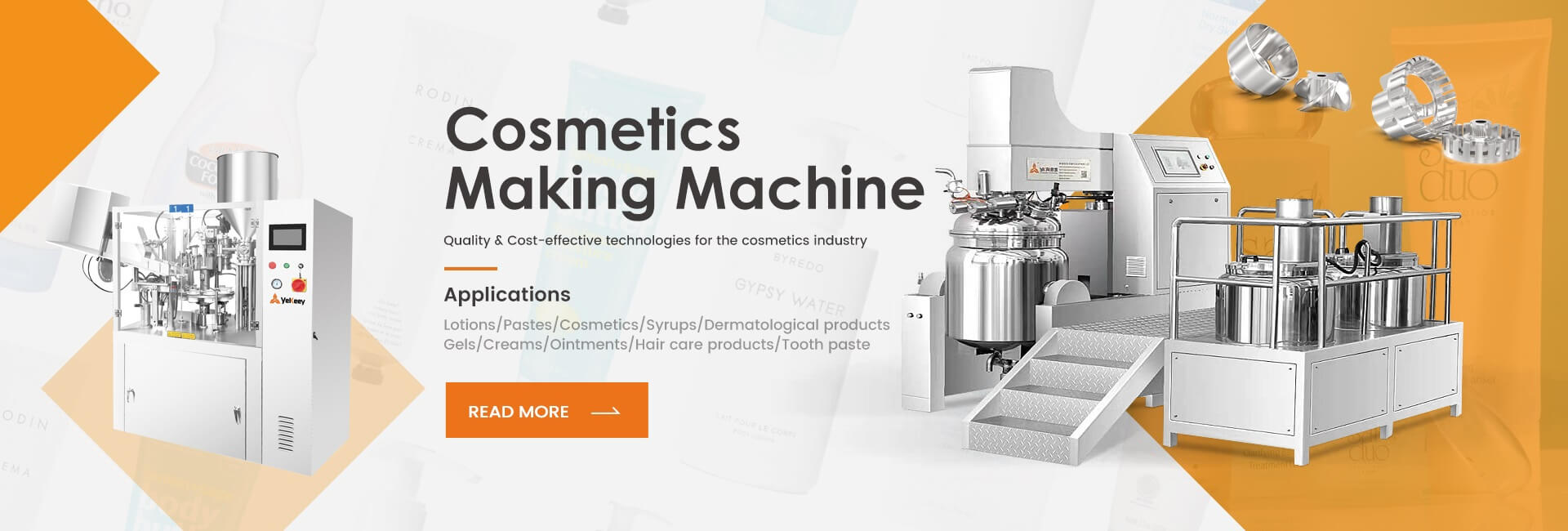 cossmetics making machine