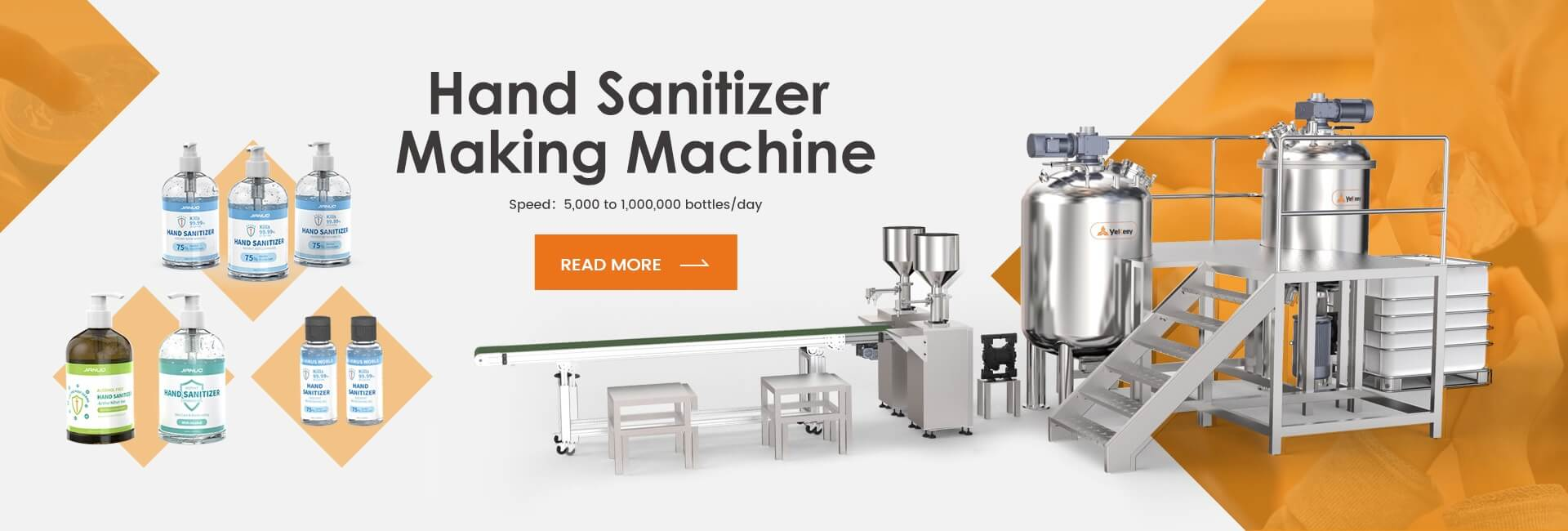 hand-sanitizer making machine