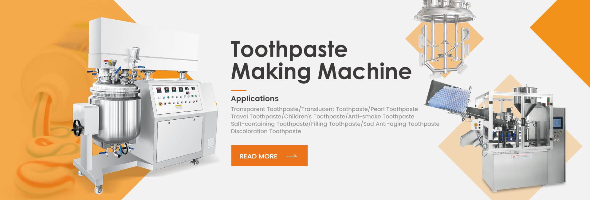 toothpaste making machine