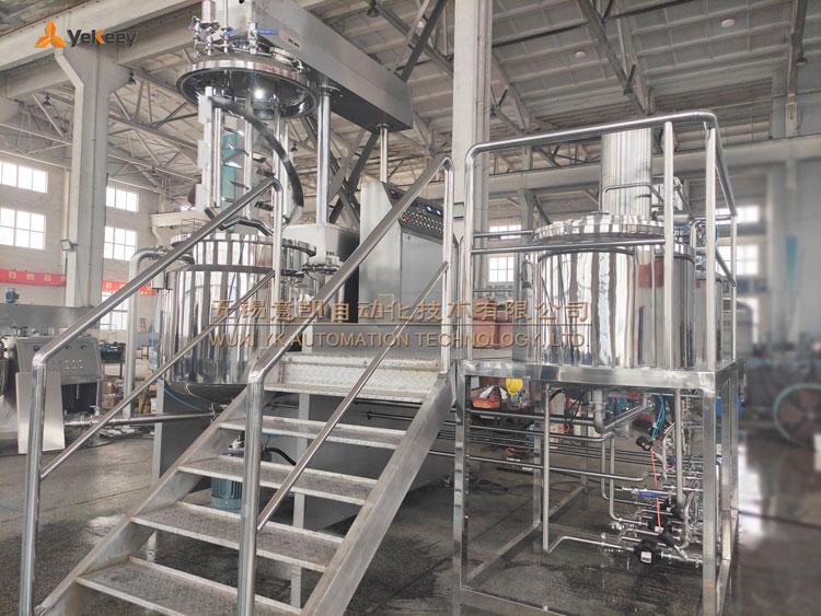 food sauce industrial emulsifying mixer