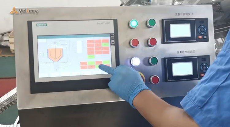 4 PLC touch screen control system demonstration