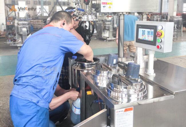 laboratory vacuum emulsifying machine