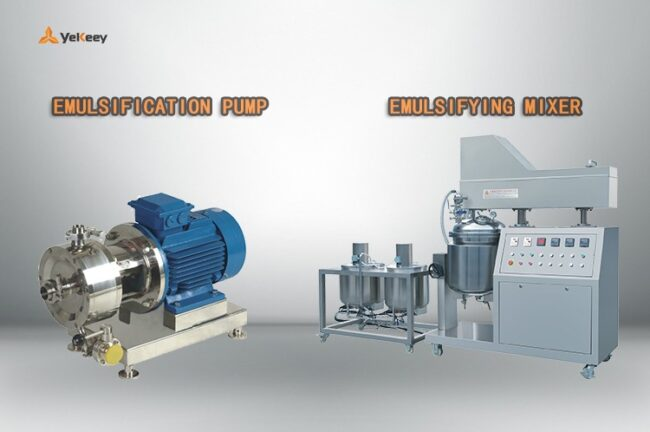emulsifying mixer and emulsification pump
